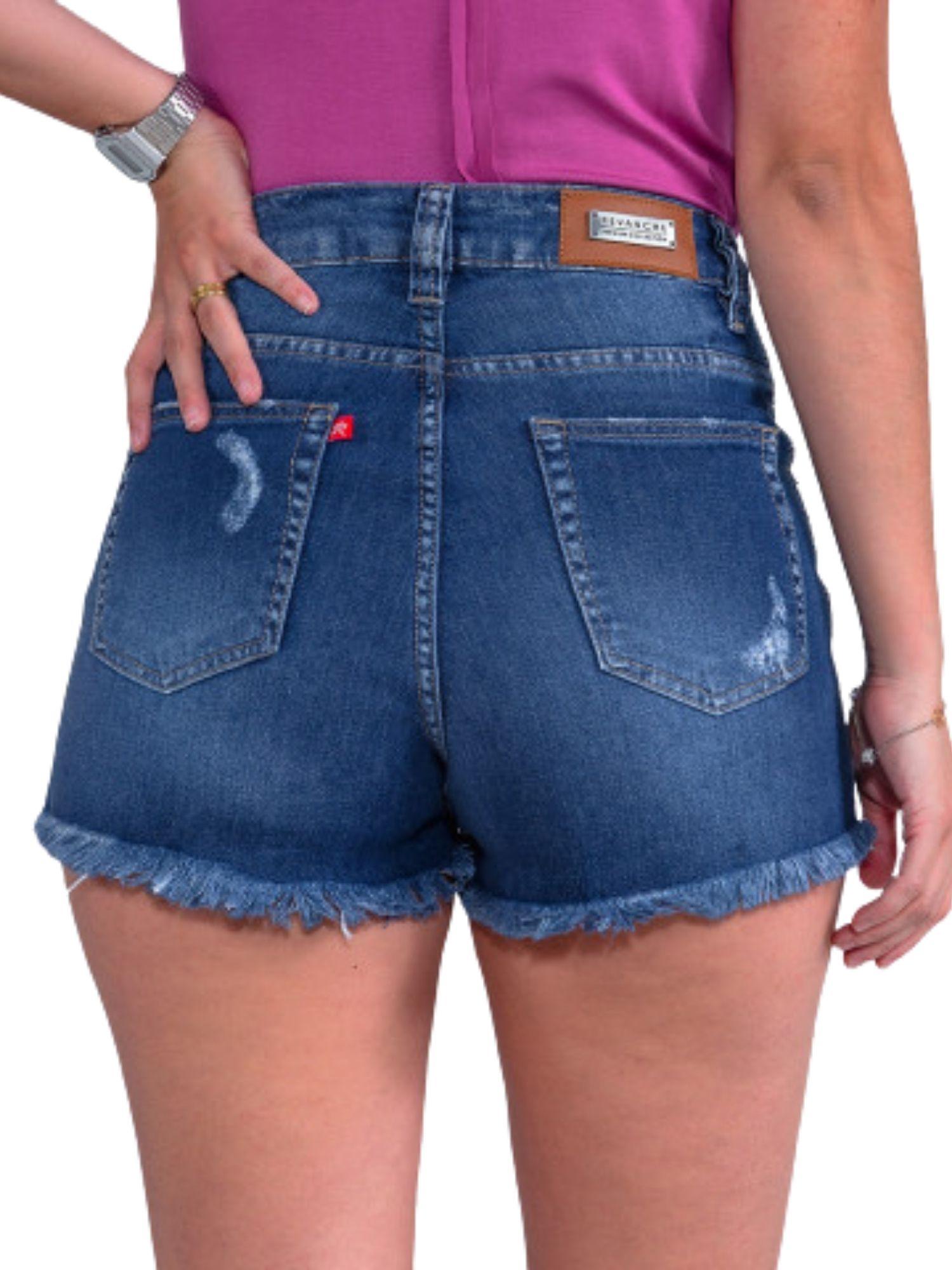 Shorts 2 Botões Barra Desfiada Revanche  35164