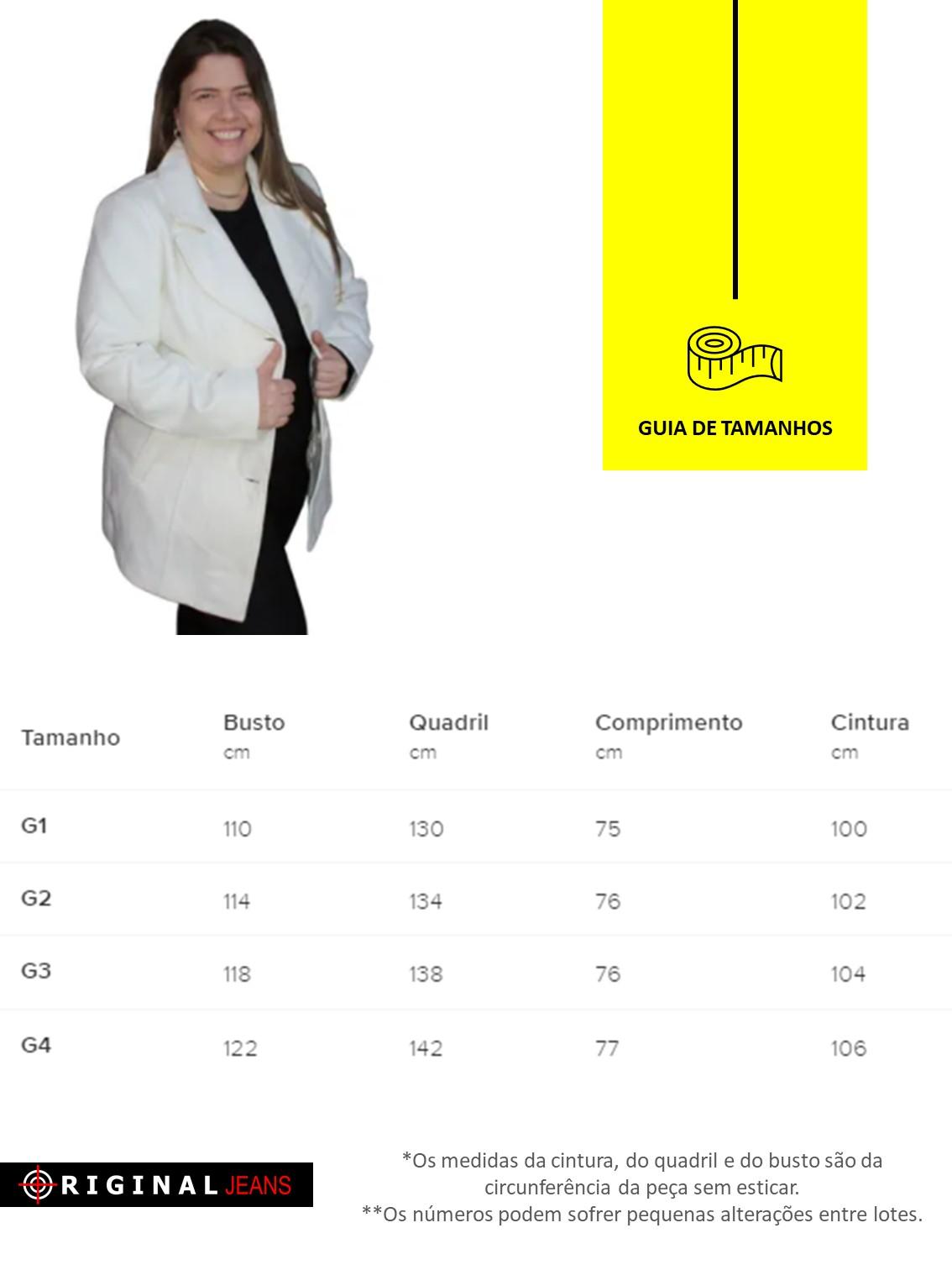 Sobretudo Lã Batida Plus Size 610147