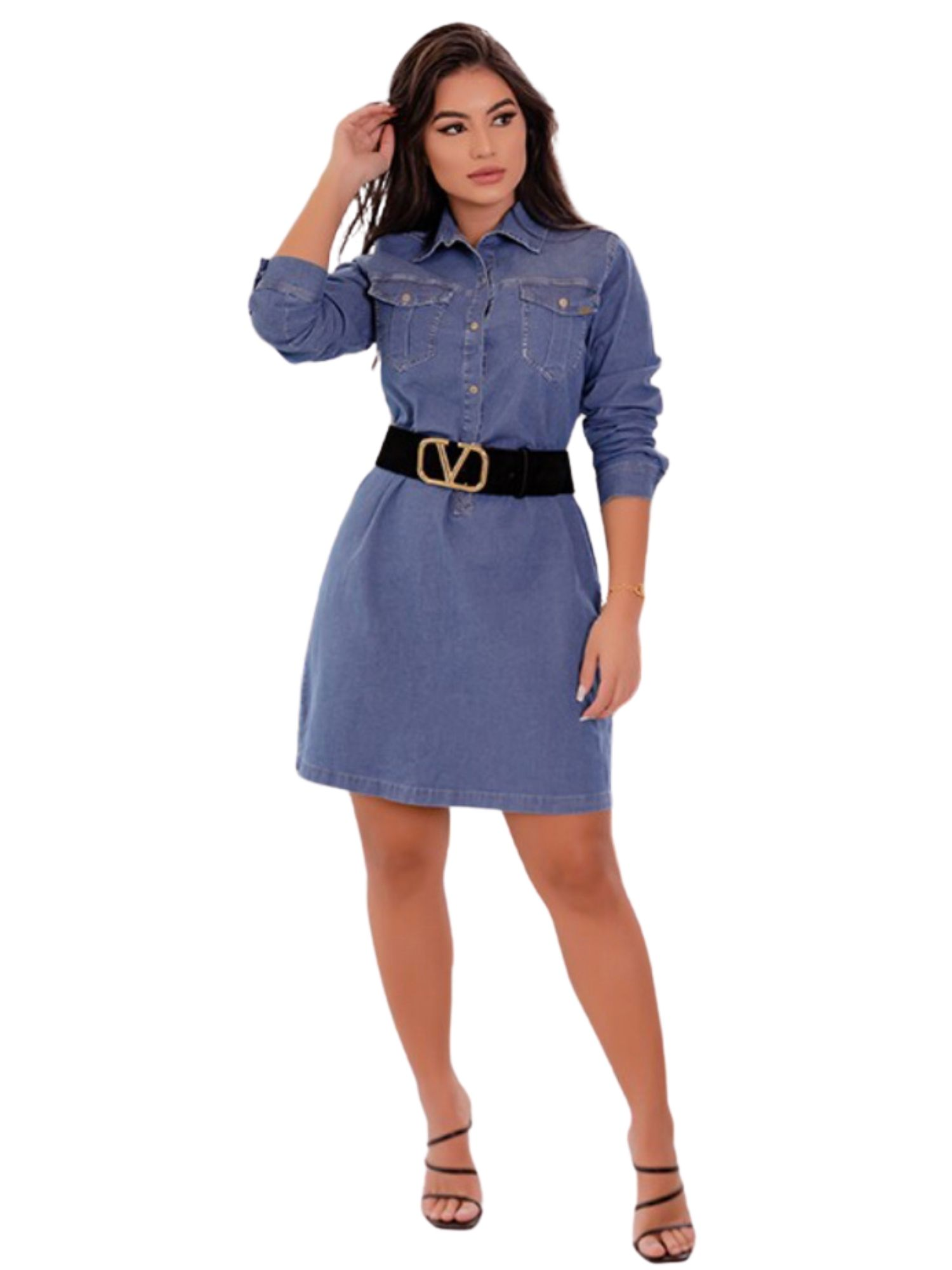 Vestido Chemise Jeans Tnw Jeans 11132