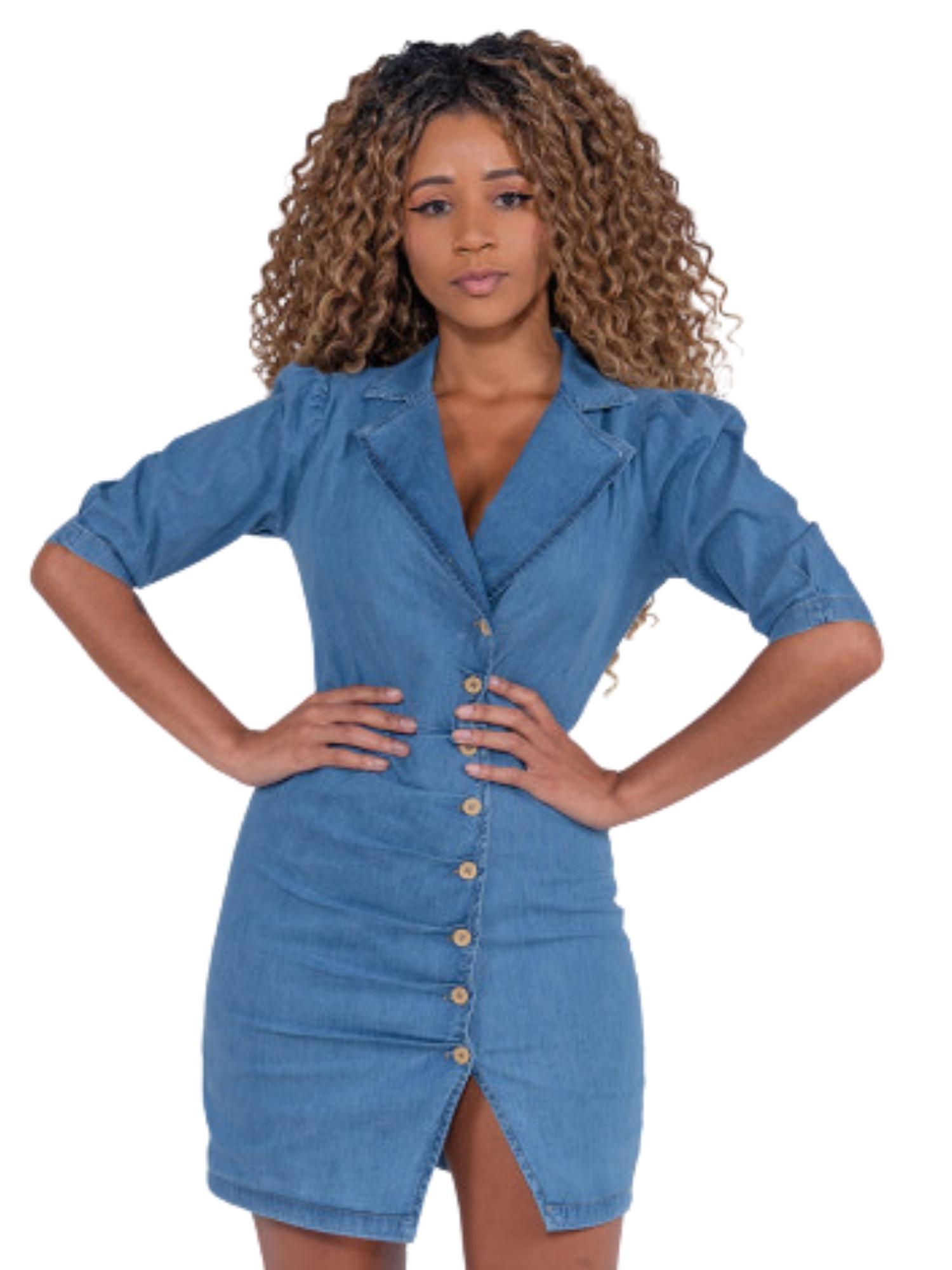 Vestido Jeans Revanche  81268