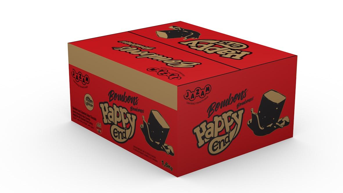BOMBOM HAPPY END CHOCOLATE - 1,6KG