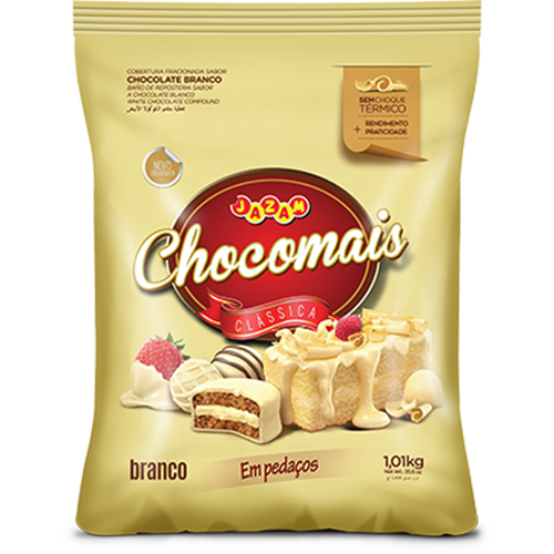 CHOCOMAIS BRANCO PED 1,01KG