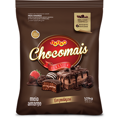 CHOCOMAIS MEIO AMARGO PED 1,01KG