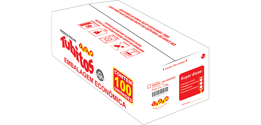 TUBITOS CAIXA 100X15G