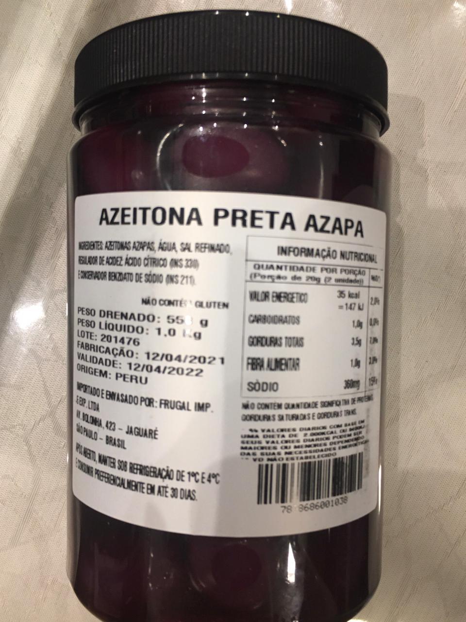 AZEITONA PRETA AZAPA 550G