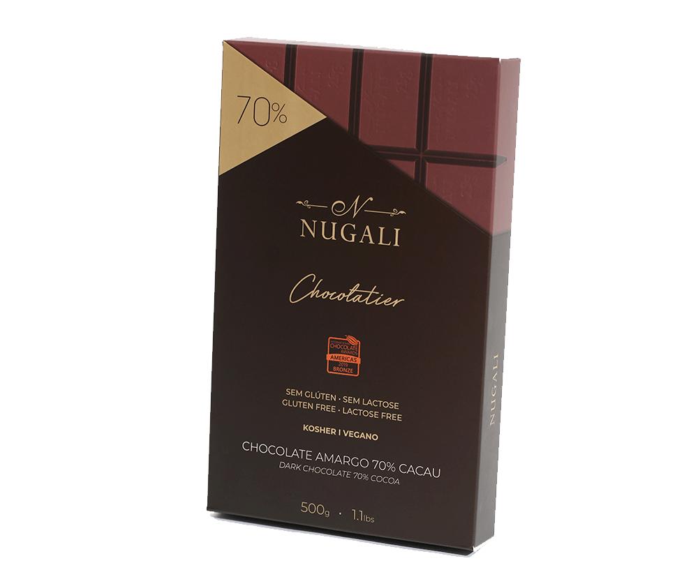 BARRA CHOCOLATE AMARGO 70% -  500 GR
