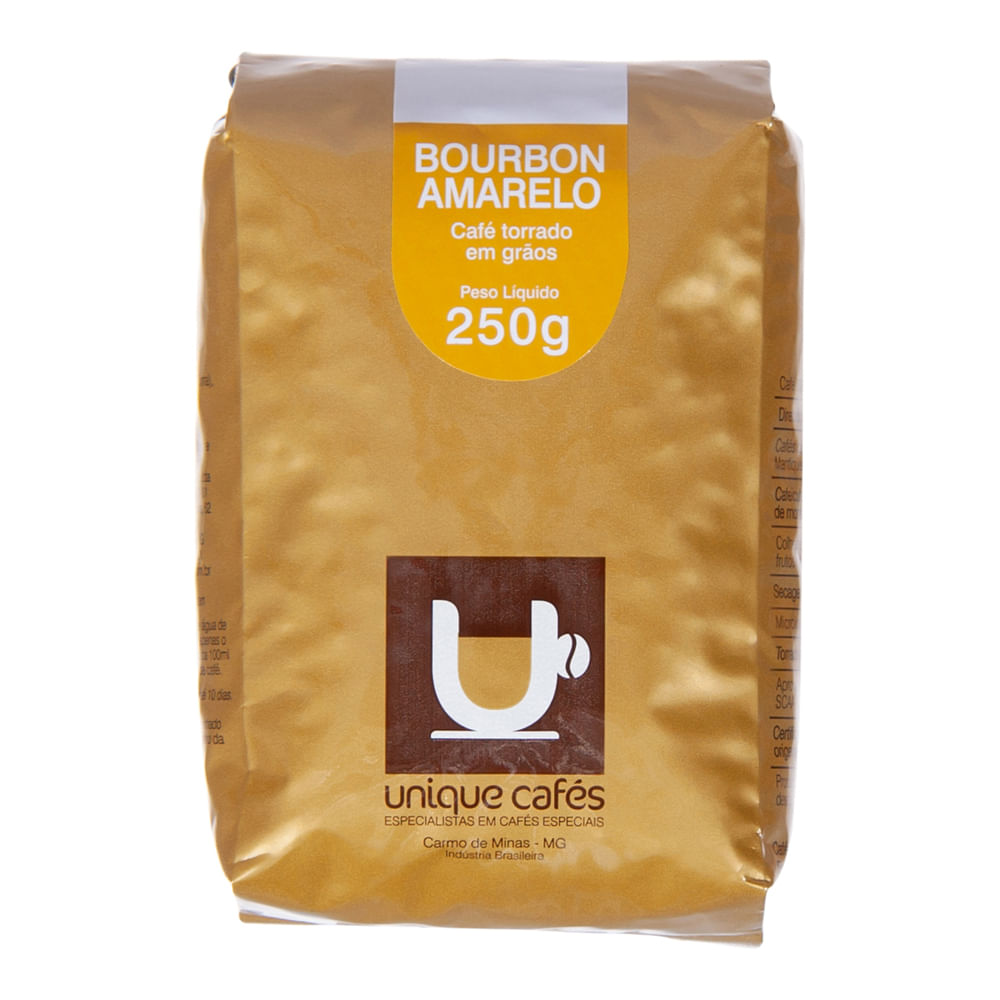 CAFE UNIQUE BOURBON AMARELO - 250G GRÃOS
