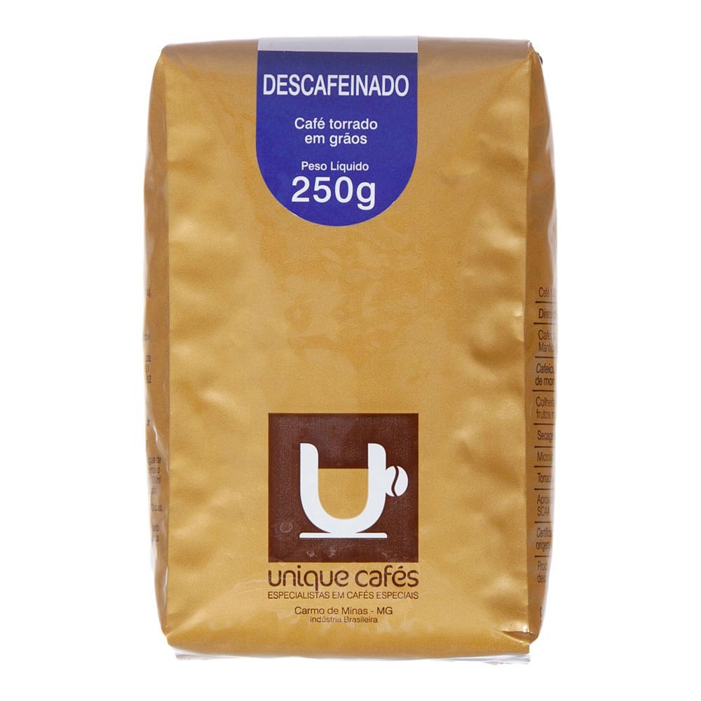 CAFE UNIQUE DESCAFEINADO -  250G GRÃOS