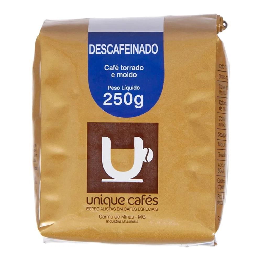 CAFE UNIQUE DESCAFEINADO -  250G MOIDO
