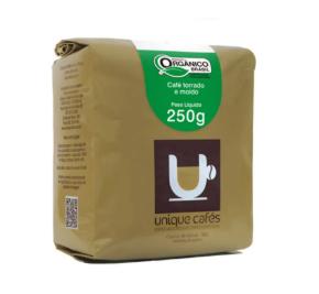 CAFE UNIQUE ORGÂNICO MOIDO - 250 GRAMAS