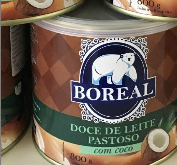 DOCE DE LEITE BOREAL COM COCO - 800GR