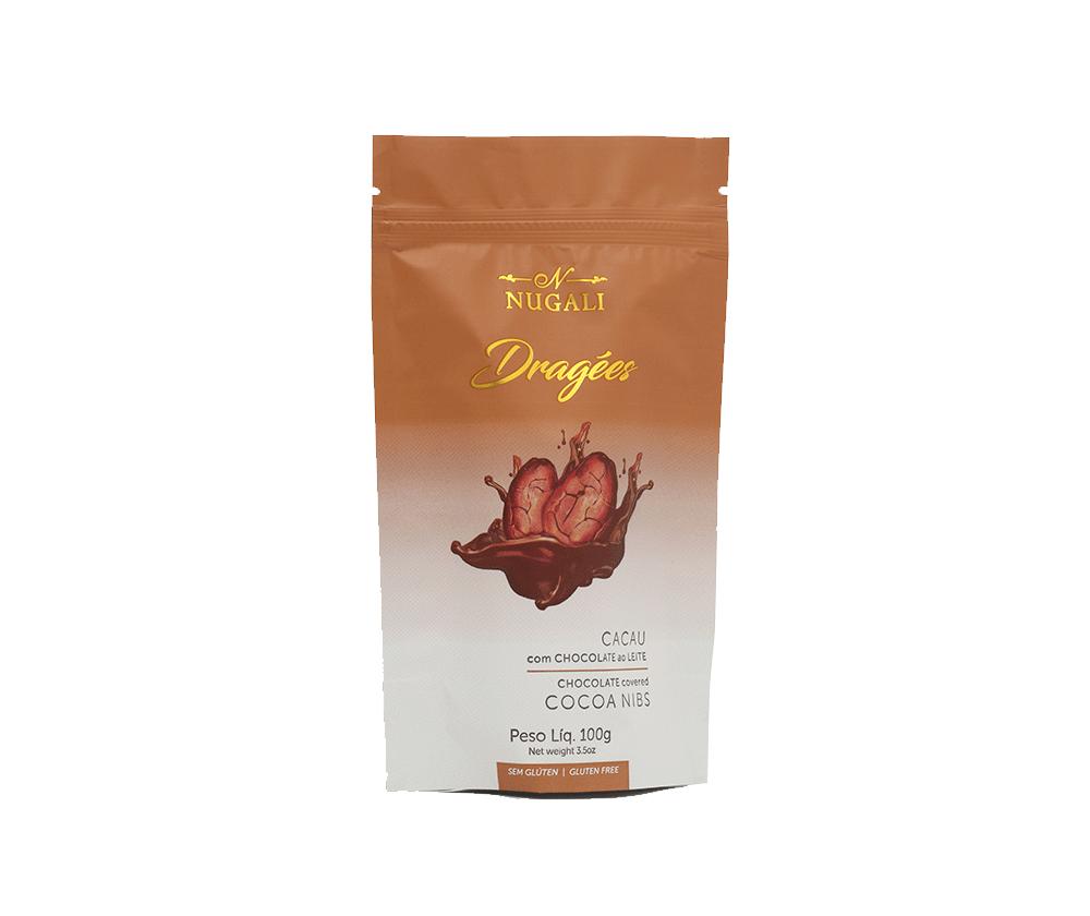 DRAGEE DE CHOCOLATE AO LEITE 45% CACAU - 100G
