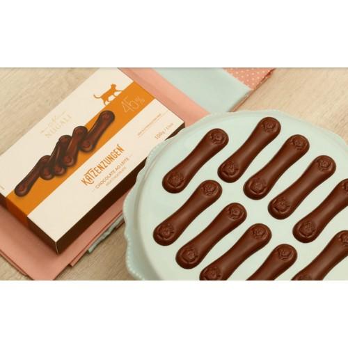 Katzenzungen de Chocolate Ao Leite 45% Cacau - 100G