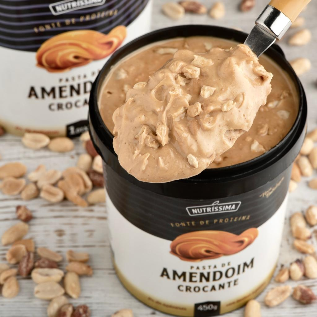 Pasta de Amendoim Integral Crocante - 1Kg Nutrissima