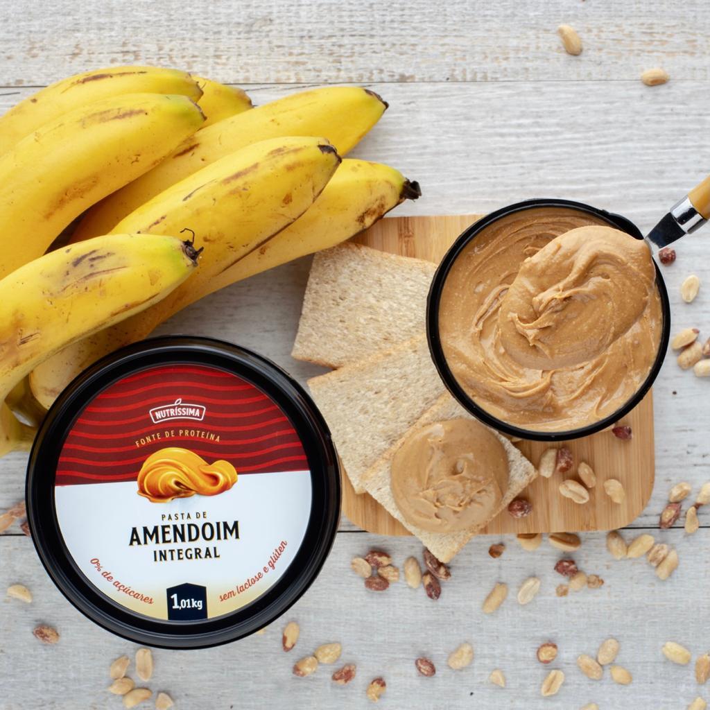 Pasta de Amendoim Integral Lisa - 1Kg  Nutrissima