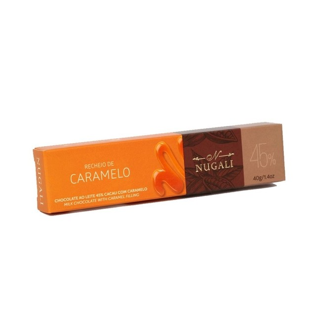 TABLETE CHOCOLATE AO LEITE COM CARAMELO - 40GR