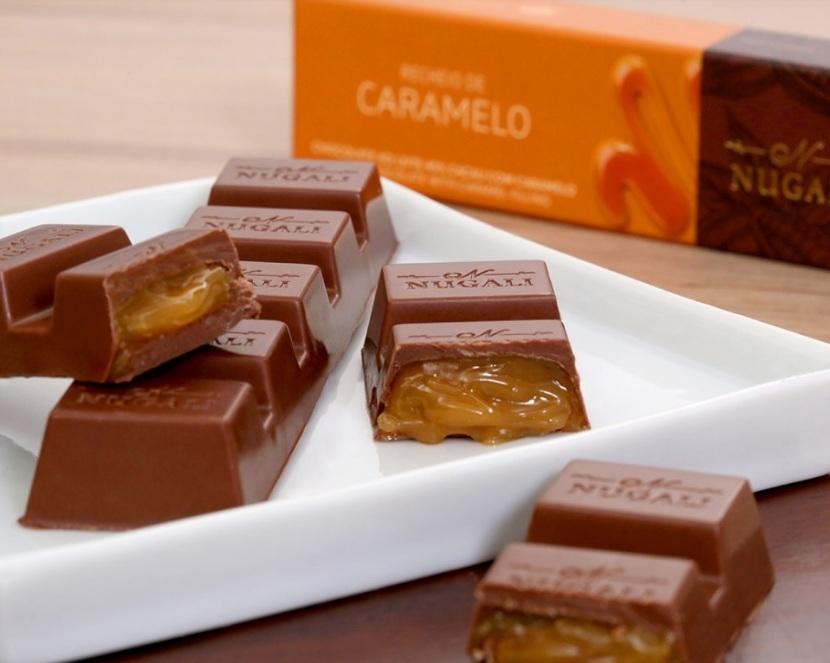 TABLETE CHOCOLATE AO LEITE COM CARAMELO - 40GR