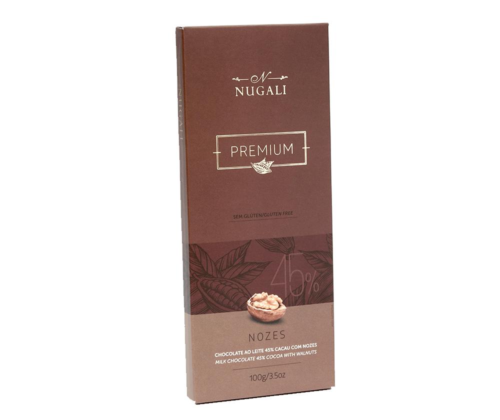 Tablete Chocolate ao Leite com Nozes - 100g