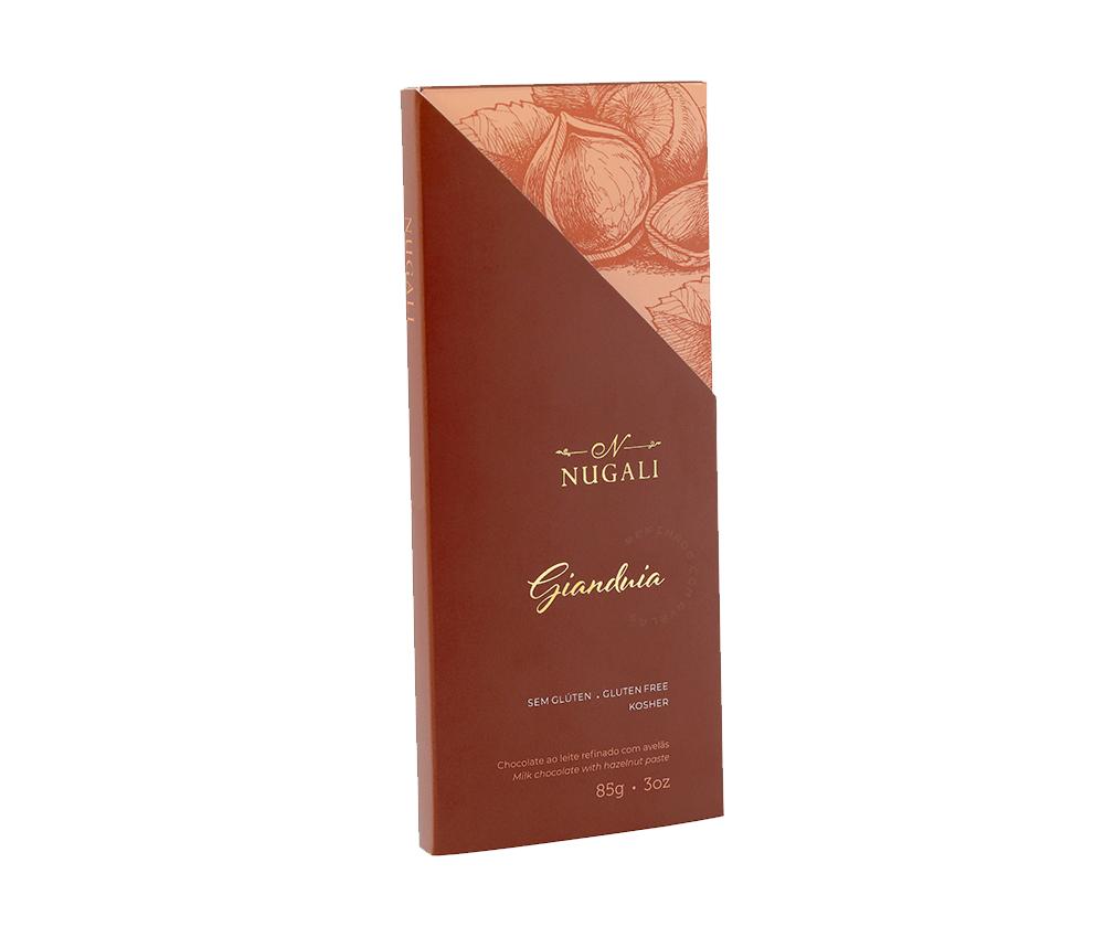 Tablete Gianduia - Choc. ao leite refinado com Avelas - 85g