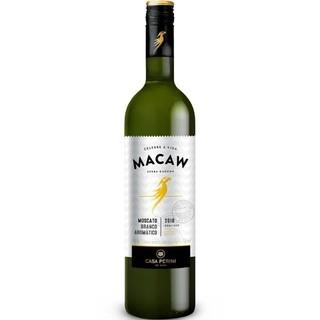 Vinho Brasileiro Tinto Demi Sec MACAW MOSCATO BRANCO 750ml