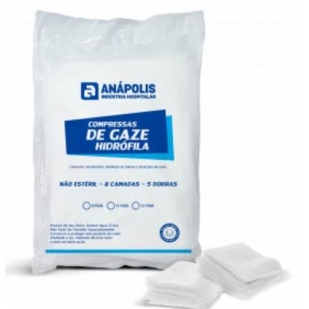 COMPRESSA GAZE 13 FIOS 7,5 CMX 7,5CM PACOTE C/ 500 UN