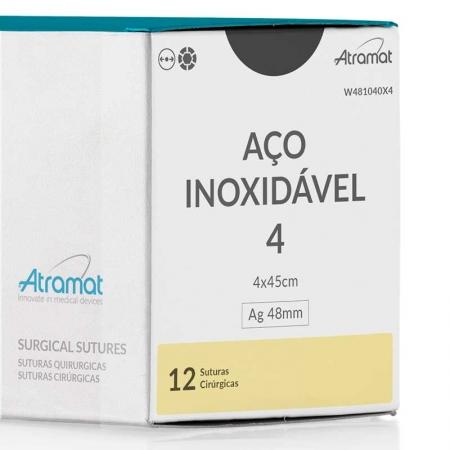 FIO DE SUTURA ACO INOXIDAVEL W481040X4 12 ENV