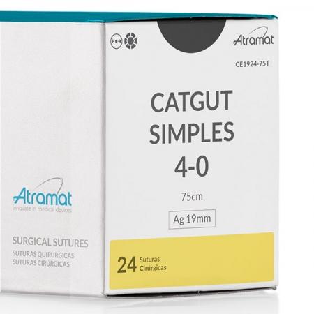 FIO DE SUTURA CATGUT SIMPLES CE1924-75T 24 ENV