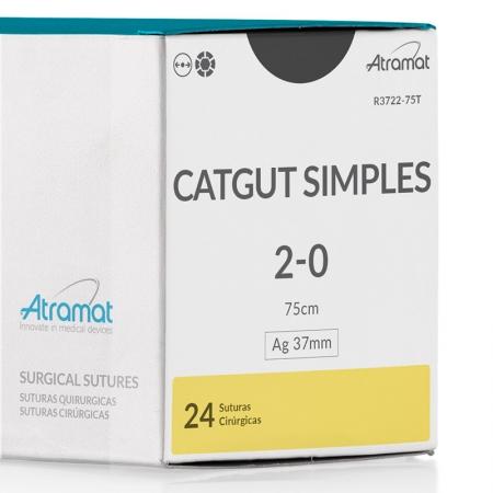 FIO DE SUTURA CATGUT SIMPLES R3722-75T 24 ENV