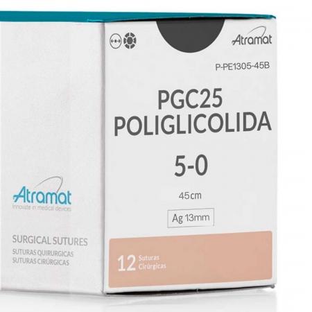 FIO DE SUTURA PGC25 POLIGLICOLIDA INCOLOR P-PE1305-45B 12 ENV