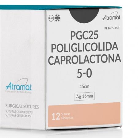 FIO DE SUTURA PGC25 POLIGLICOLIDA INCOLOR PE1605-45B 12 ENV