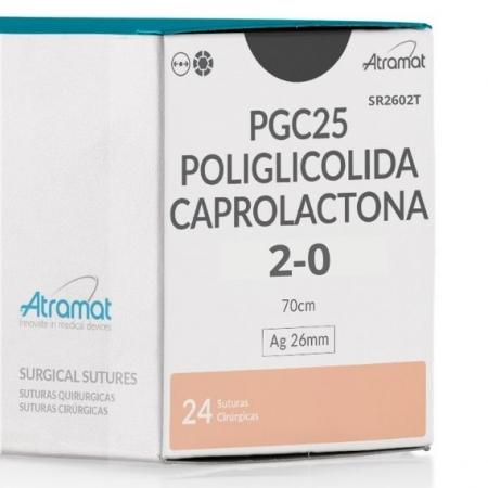 FIO DE SUTURA PGC25 POLIGLICOLIDA VIOLETA SR2602T 24 ENV