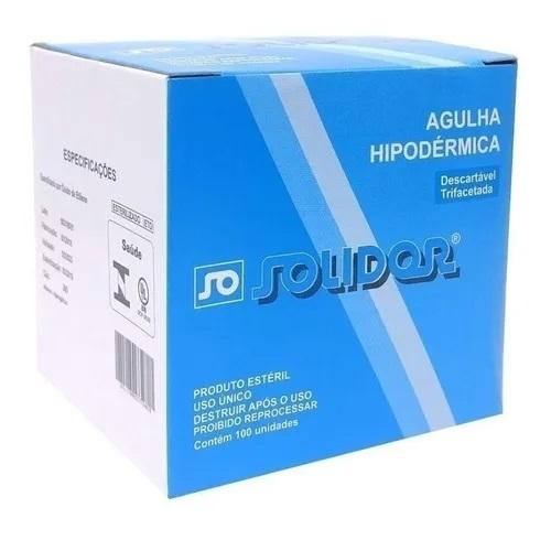 AGULHA HIPODERMICA DESCARTAVEL 25 X 7MM 22G C/100 UNID