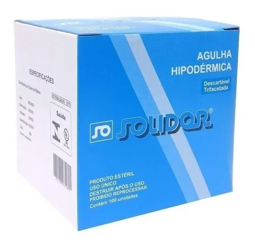 AGULHA HIPODERMICA DESCARTAVEL 30 X 7MM C/100 UNID