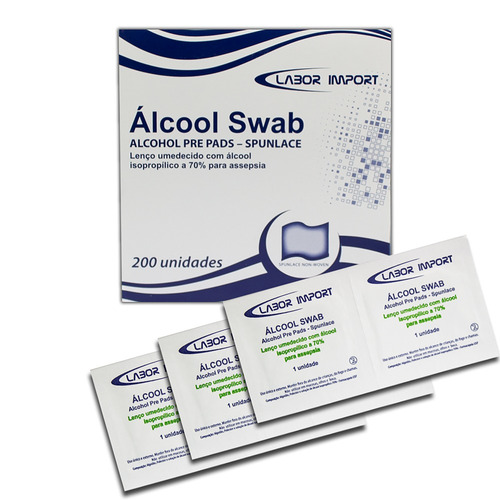 ALCOOL SWAB 70% CX 200UN