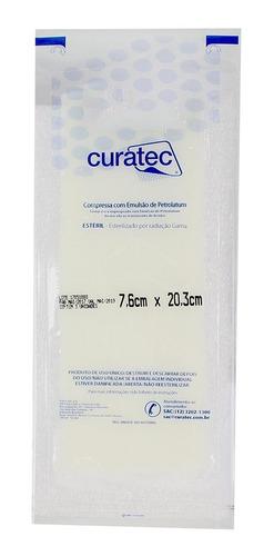 COMPRESSA COM EMULSAO PETROLATUM 7,6CM X 20,3M CX C/36 UNID