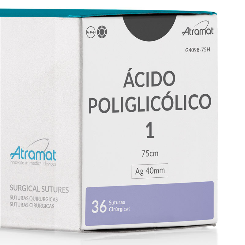 FIO DE SUTURA ACIDO POLIGLICOLICO VIOLETA G4098-75H 36 ENV