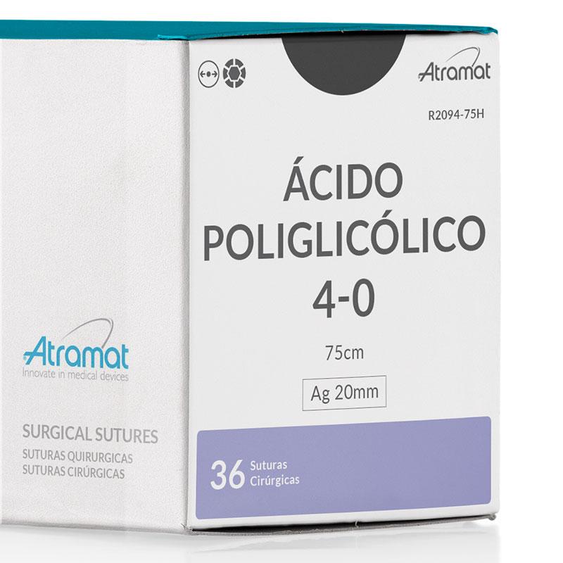 FIO DE SUTURA ACIDO POLIGLICOLICO VIOLETA R2094-75H 36 ENV