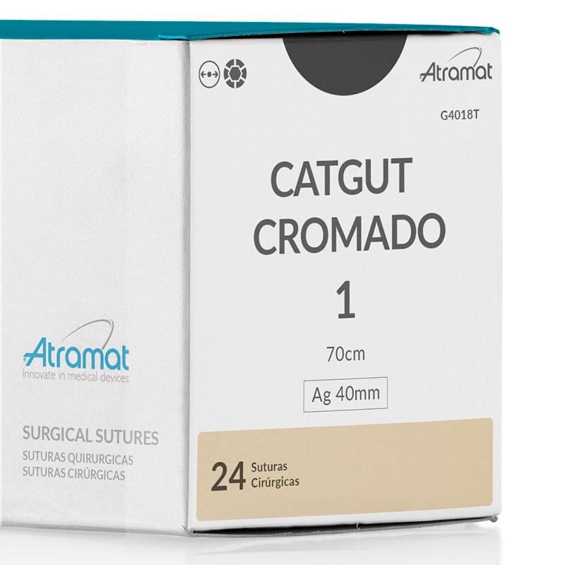FIO DE SUTURA CATGUT CROMADO OCRE G4018T 24 ENV