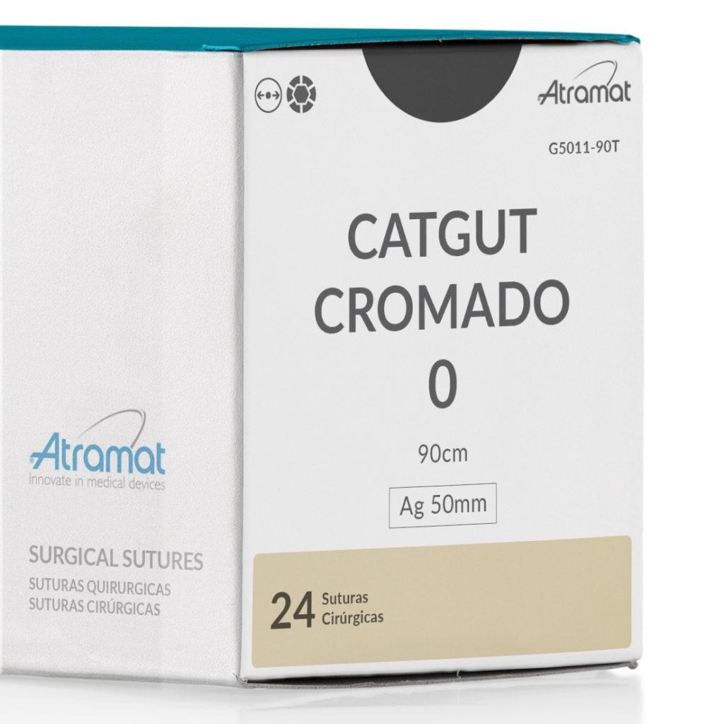 FIO DE SUTURA CATGUT CROMADO OCRE G5011-90T 24 ENV