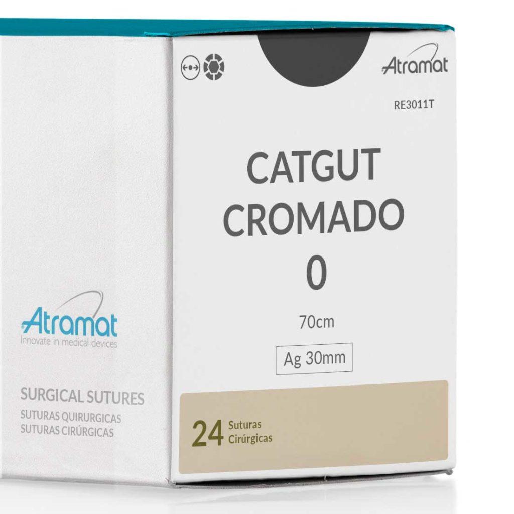 FIO DE SUTURA CATGUT CROMADO OCRE R3011T 24 ENV