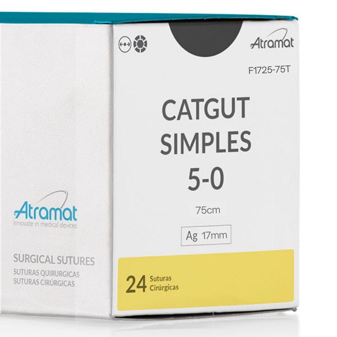 FIO DE SUTURA CATGUT SIMPLES F1725-75T 24 ENV