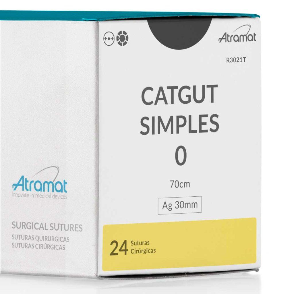 FIO DE SUTURA CATGUT SIMPLES R3021T 24 ENV