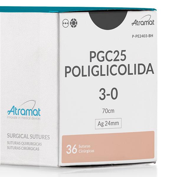 FIO DE SUTURA PGC25 POLIGLICOLIDA INCOLOR P-PE2403-BH 36 ENV