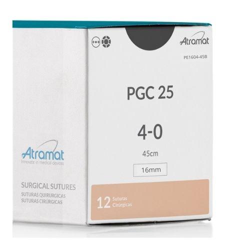 FIO DE SUTURA PGC25 POLIGLICOLIDA INCOLOR PE1604-45B 12 ENV