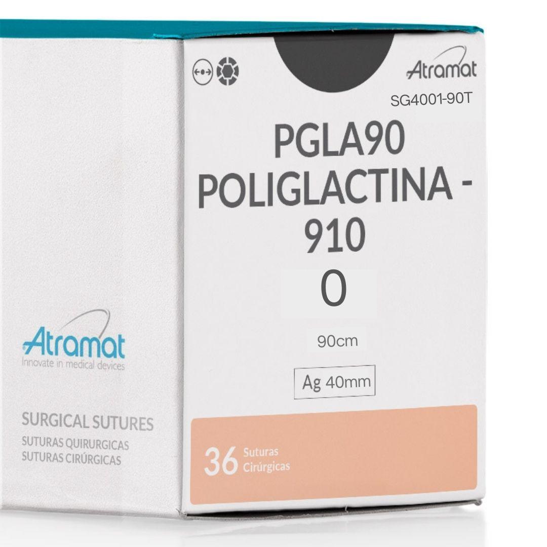 FIO DE SUTURA PGC25 POLIGLICOLIDA VIOLETA SG4001-90T 24 ENV