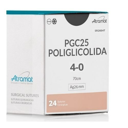 FIO DE SUTURA PGC25 POLIGLICOLIDA VIOLETA SR2604T 24 ENV