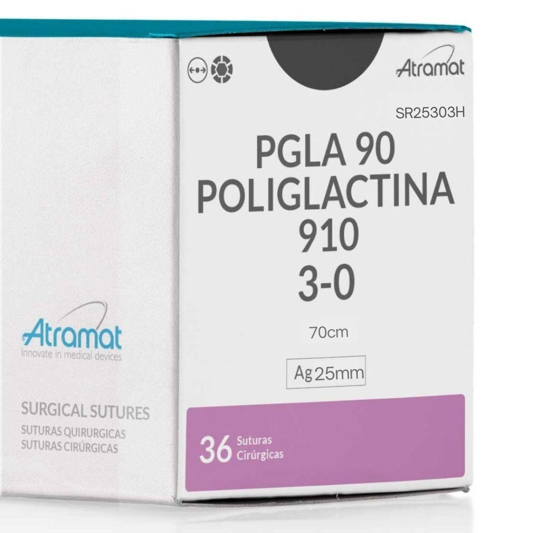 FIO DE SUTURA POLIGLACTINA 910 VIOLETA SR25303H 36 ENV