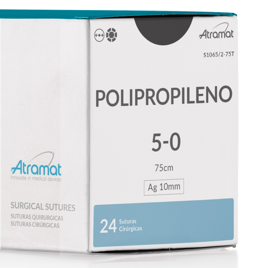 FIO DE SUTURA POLIPROPILENO S1065/2-75T 24 ENV