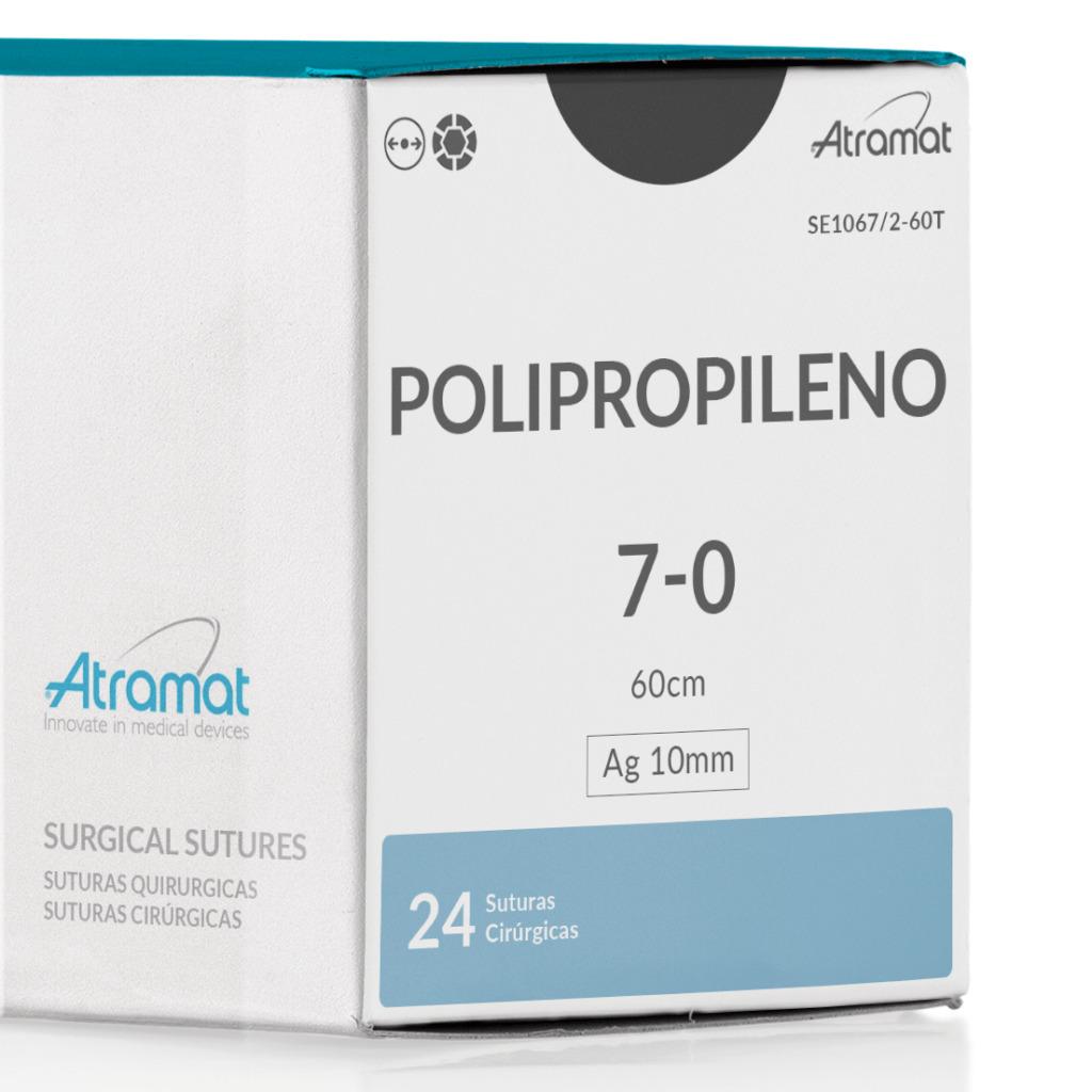 FIO DE SUTURA POLIPROPILENO SE1067/2-60T 24 ENV