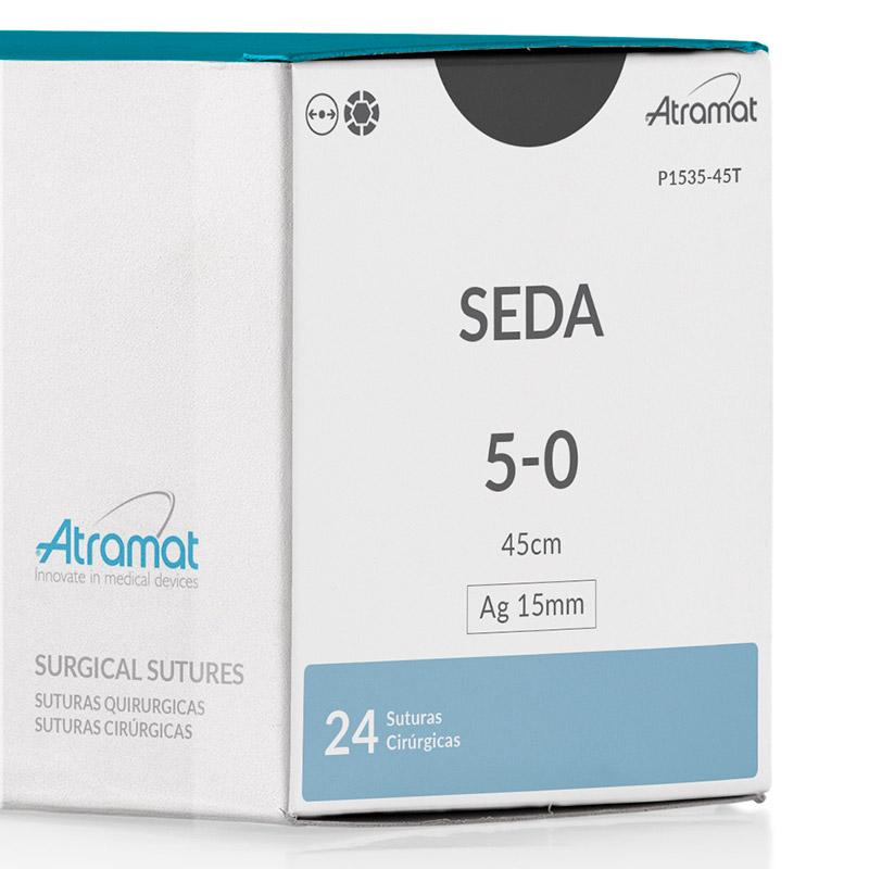 FIO DE SUTURA SEDA P1535-45T 24 ENV